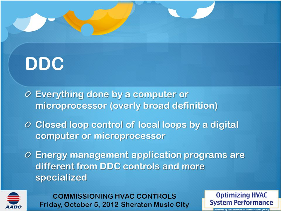 DDC Everything done by a computer or microprocessor (overly broad definition)