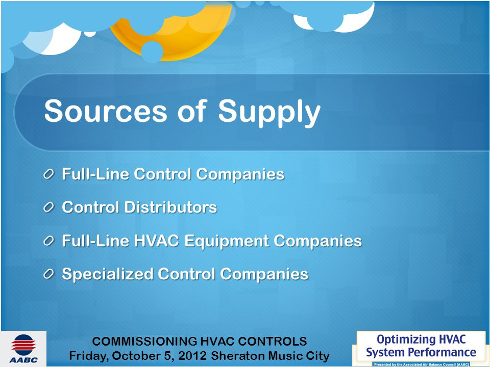 Sources of Supply Full-Line Control Companies Control Distributors