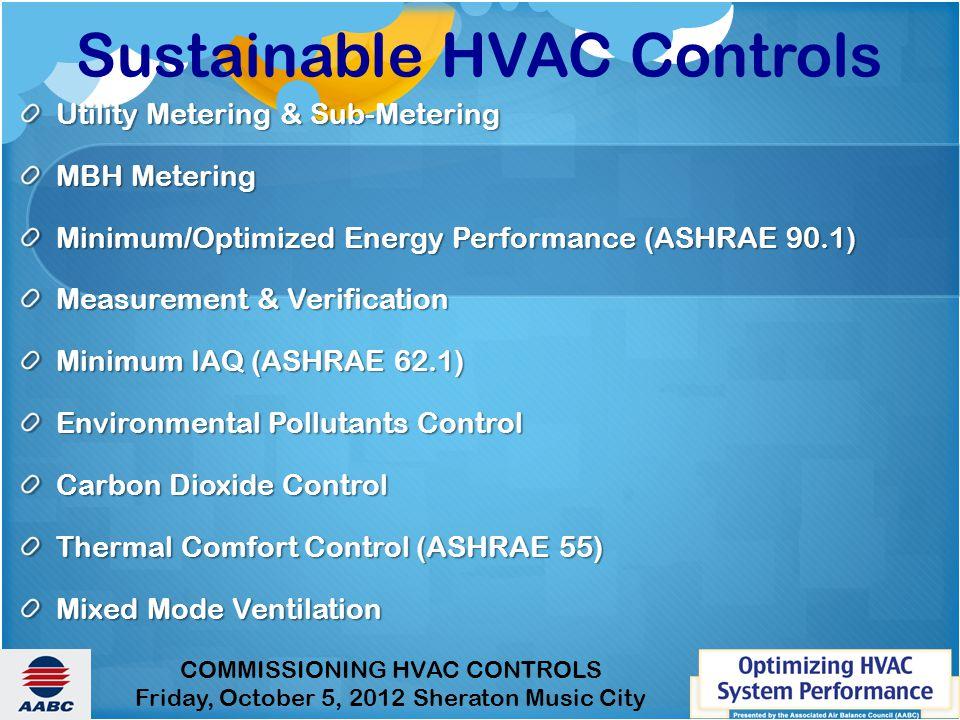 Sustainable HVAC Controls