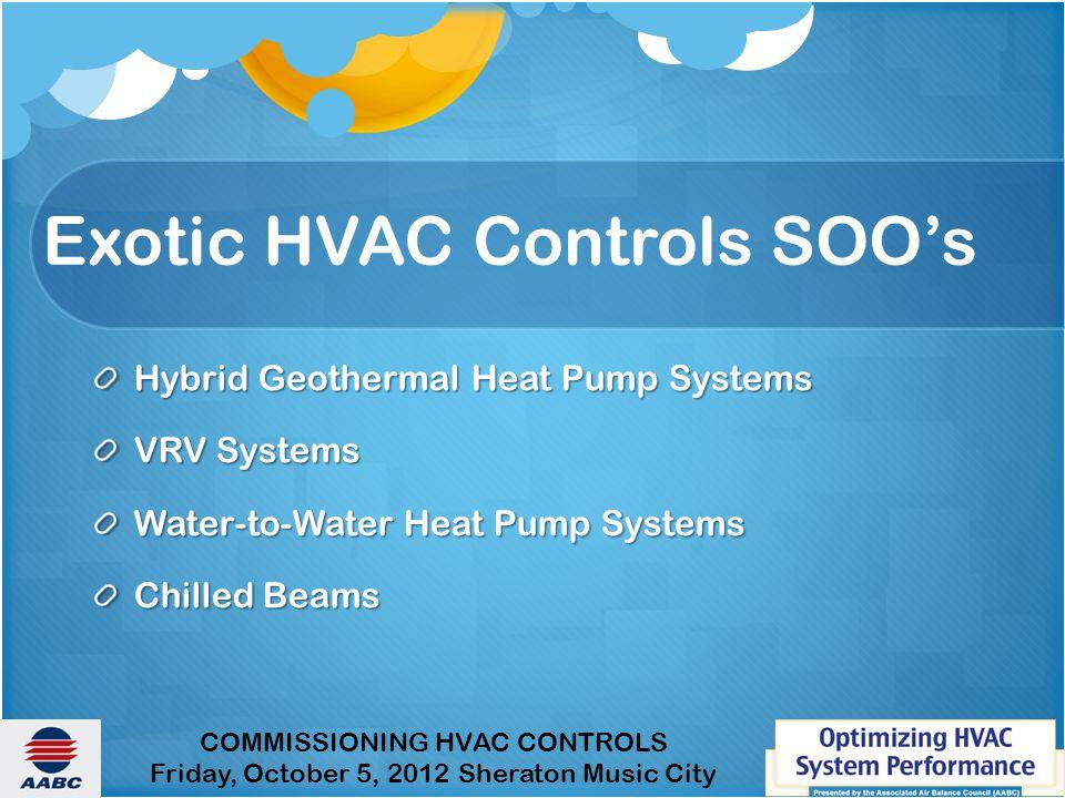 Exotic HVAC Controls SOO's
