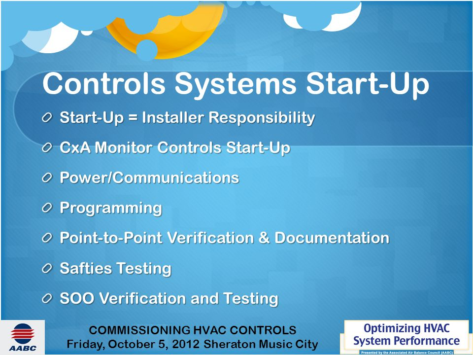 Controls Systems Start-Up