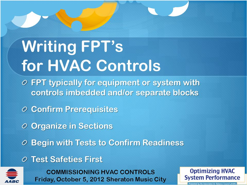 Writing FPT's for HVAC Controls