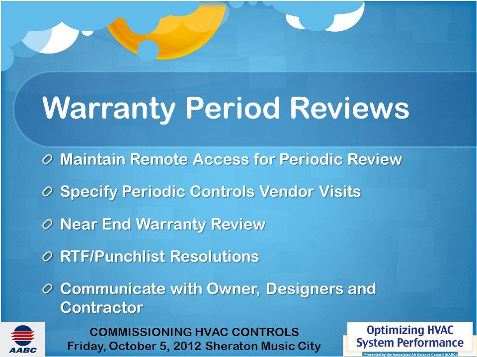 Warranty Period Reviews