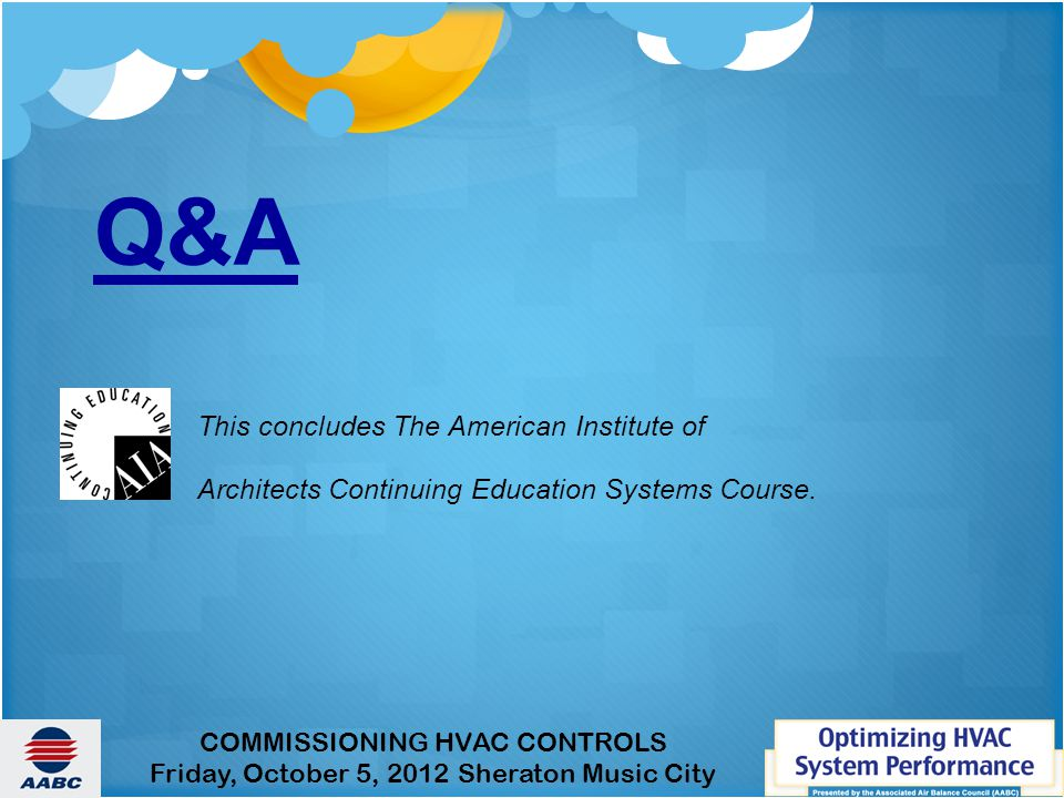Q&A This concludes The American Institute of