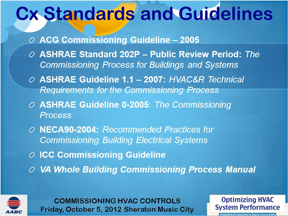 Cx Standards and Guidelines