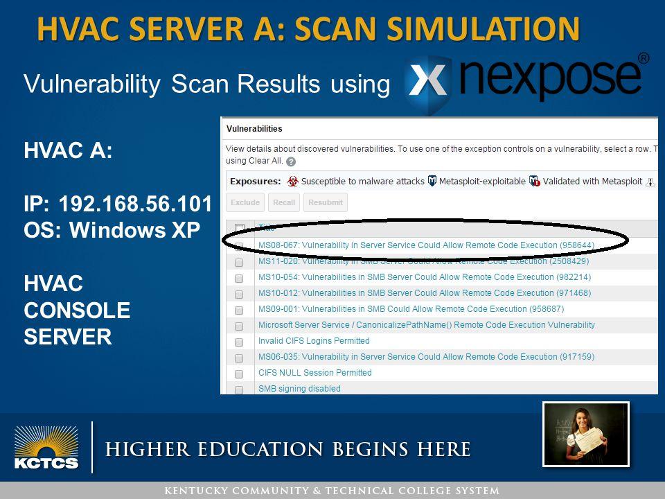 HVAC server a: SCAN simulation