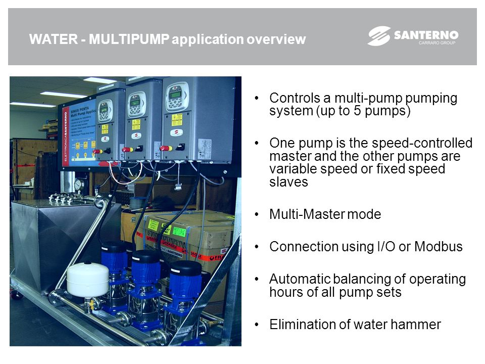 WATER - MULTIPUMP application overview