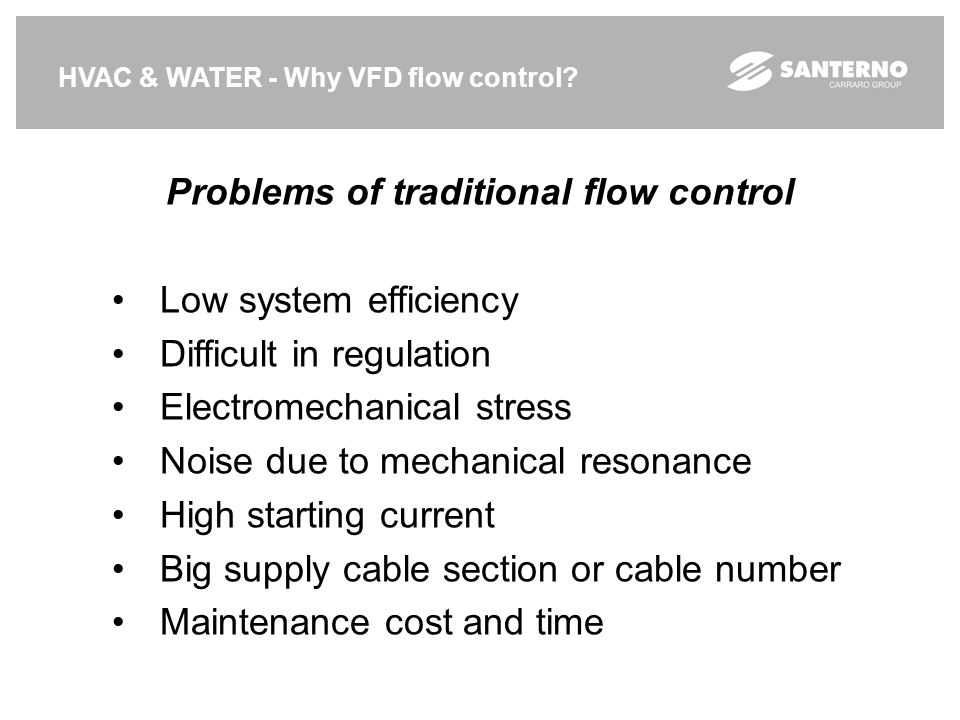 Problems of traditional flow control