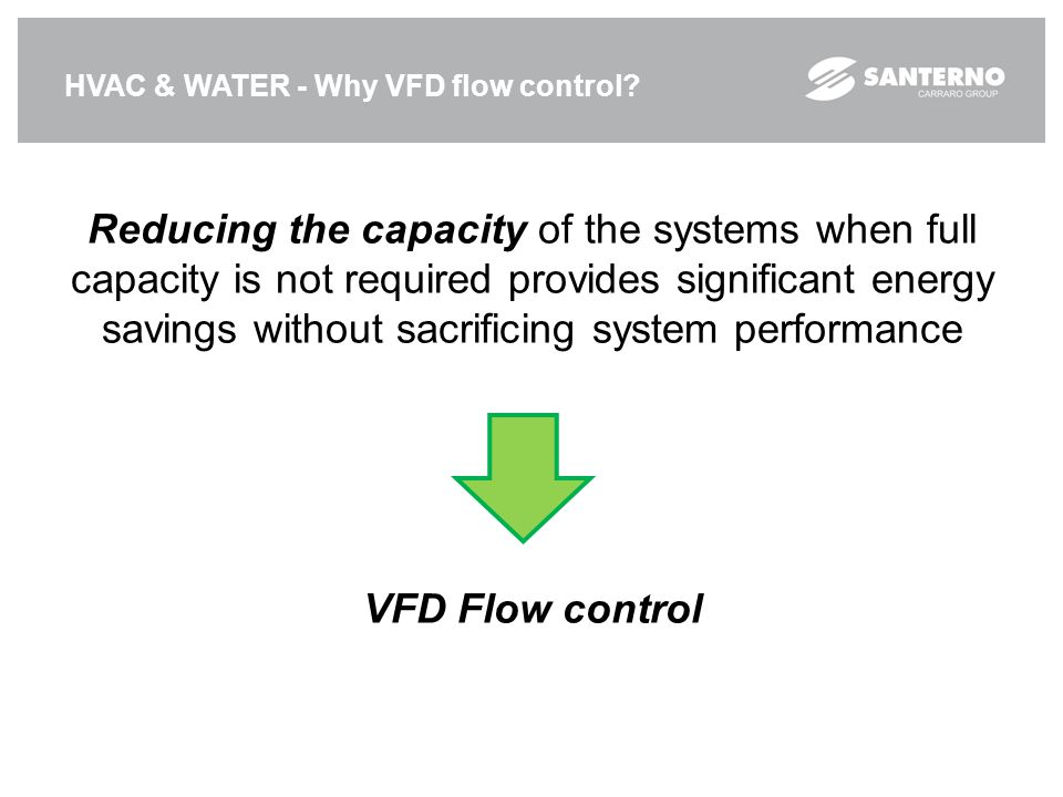 HVAC & WATER - Why VFD flow control