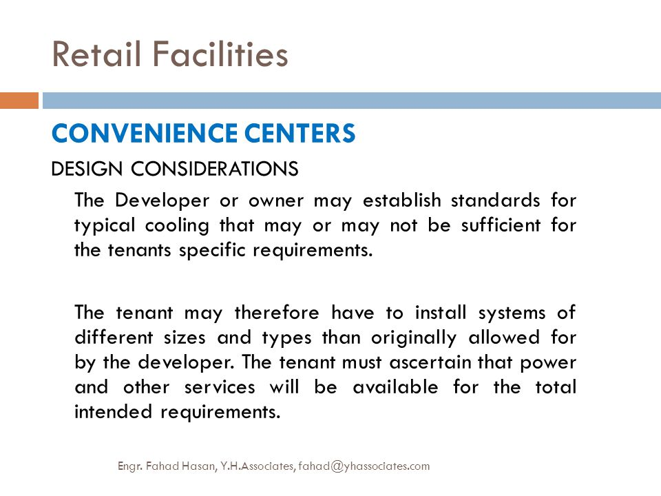 Retail Facilities CONVENIENCE CENTERS DESIGN CONSIDERATIONS