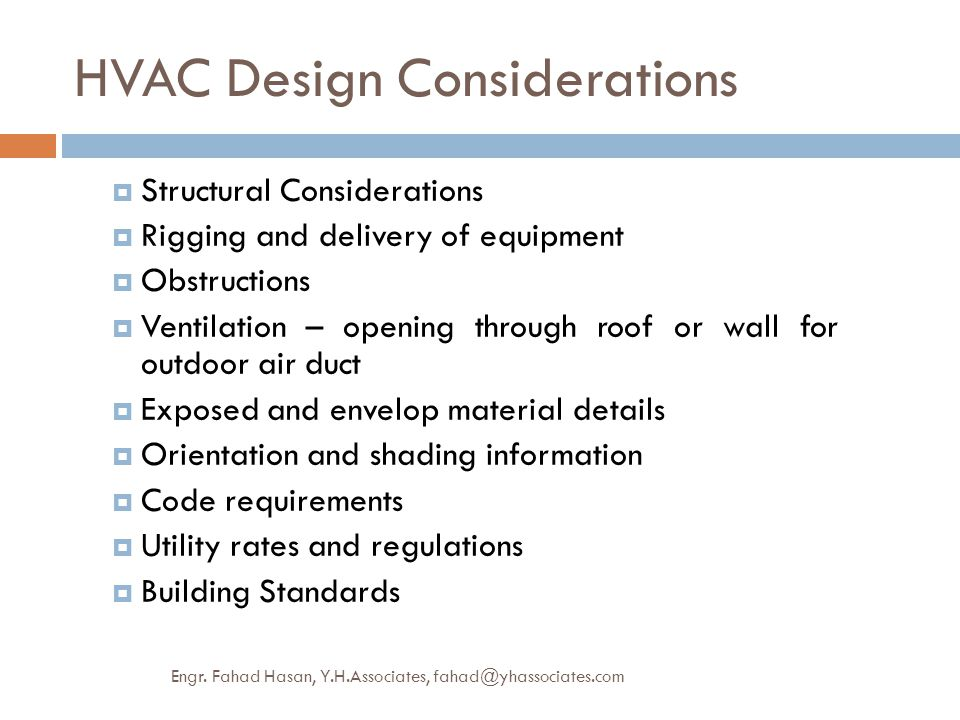 HVAC Design Considerations