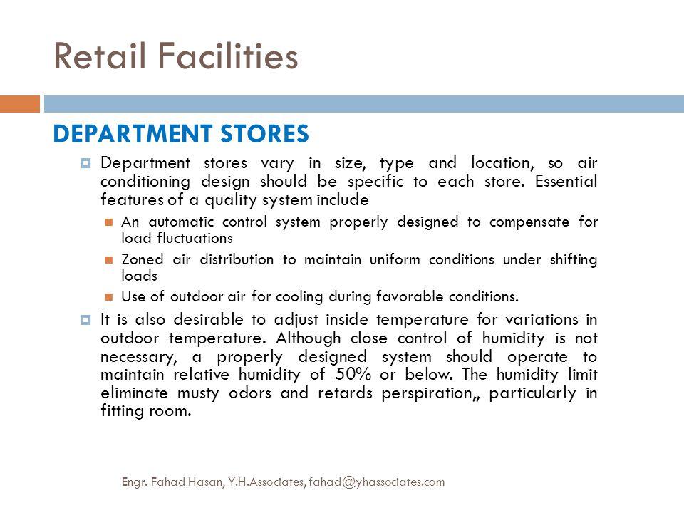 Retail Facilities DEPARTMENT STORES