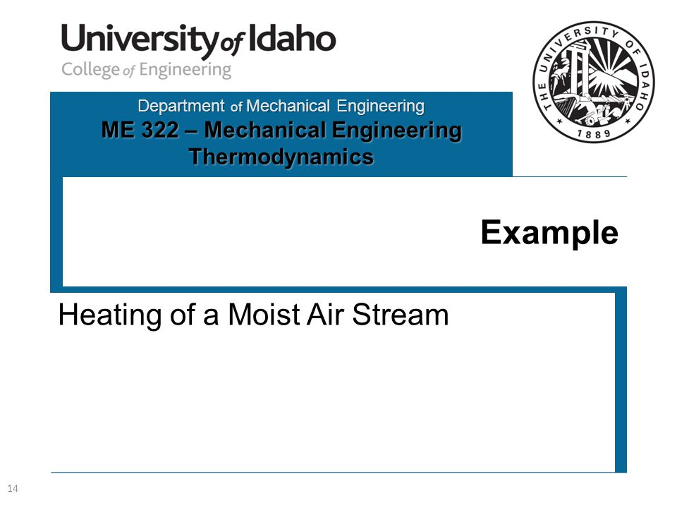 Heating of a Moist Air Stream