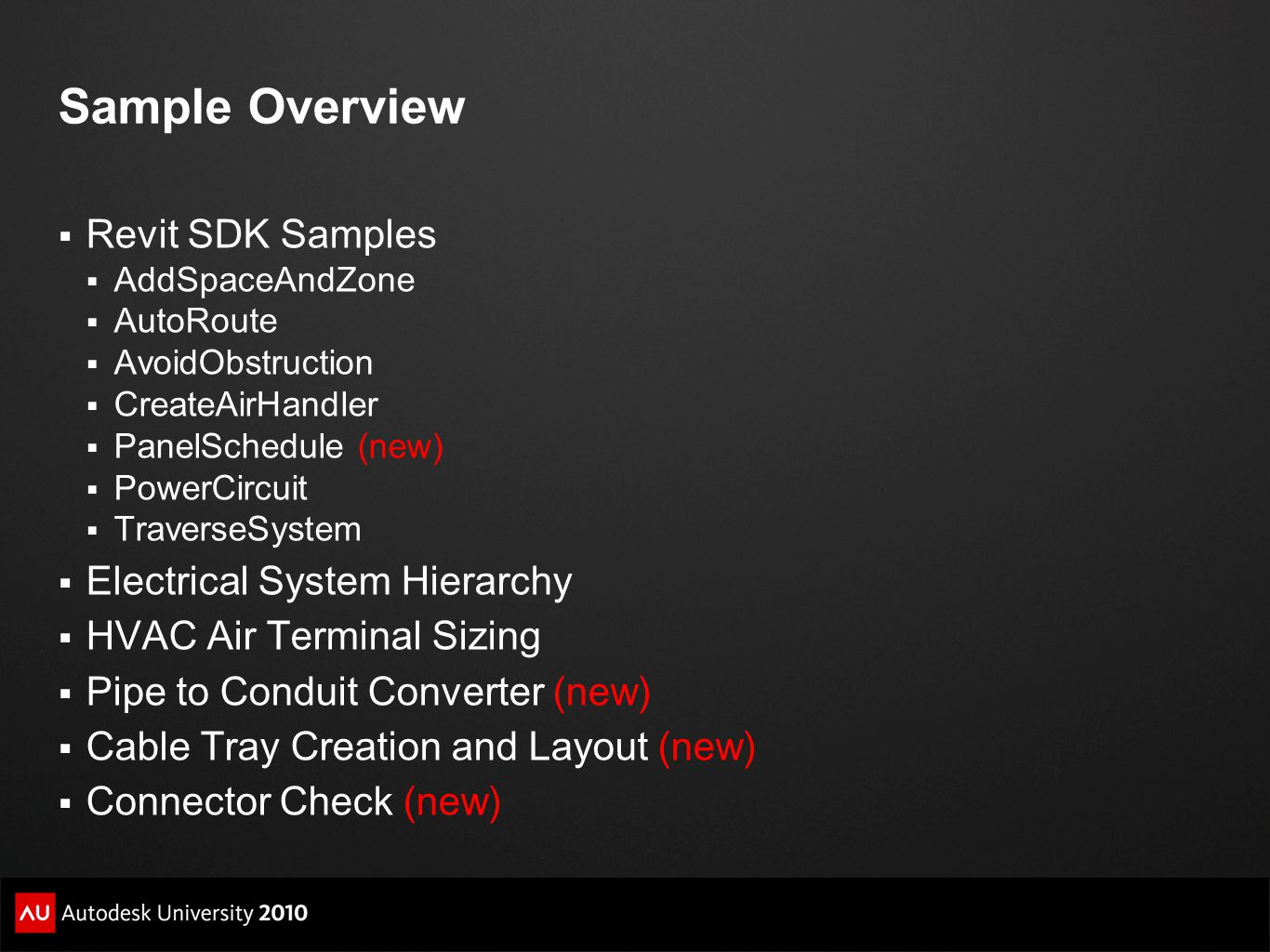 Sample Overview Revit SDK Samples Electrical System Hierarchy
