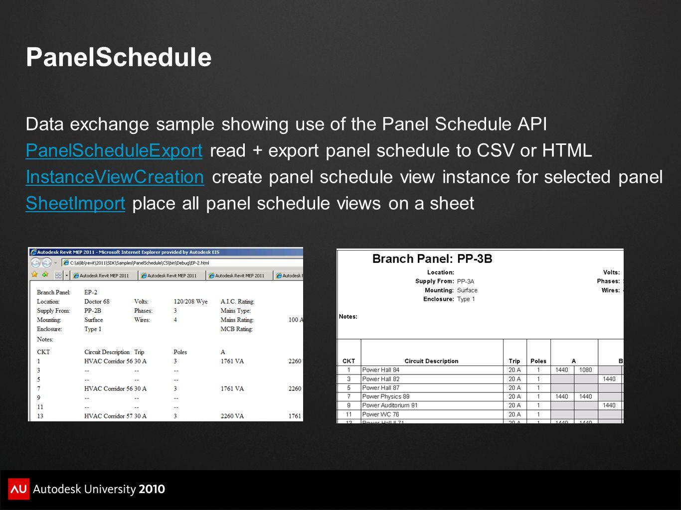 PanelSchedule