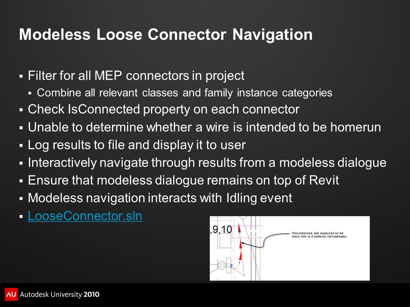 Modeless Loose Connector Navigation