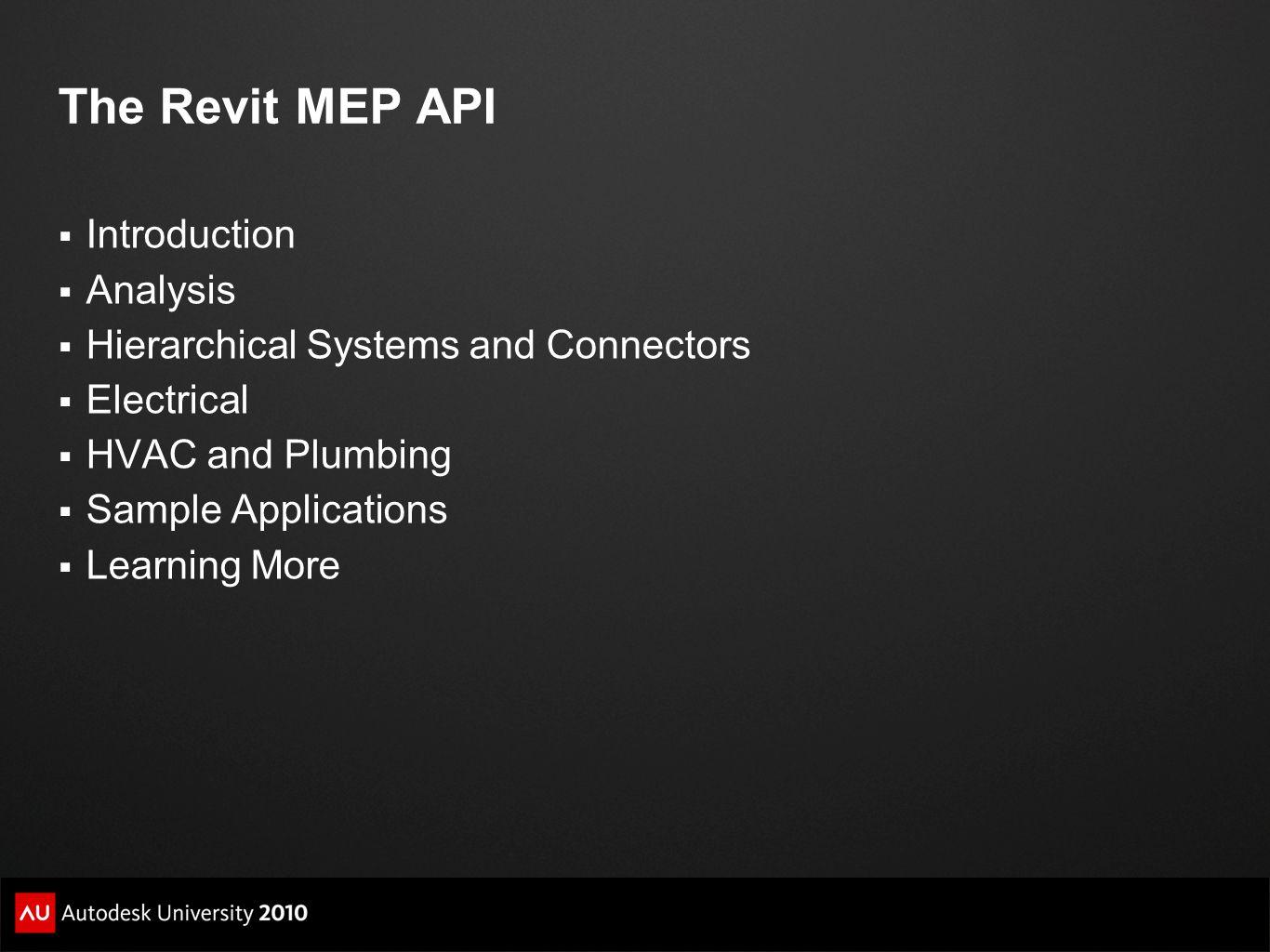 The Revit MEP API Introduction Analysis