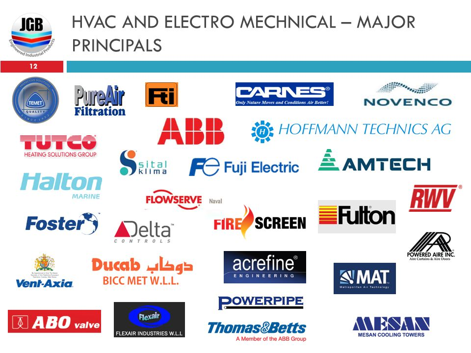 HVAC AND ELECTRO MECHNICAL – MAJOR PRINCIPALS
