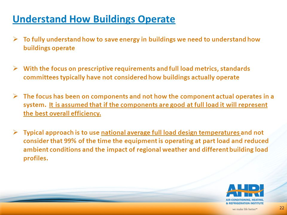 Understand How Buildings Operate
