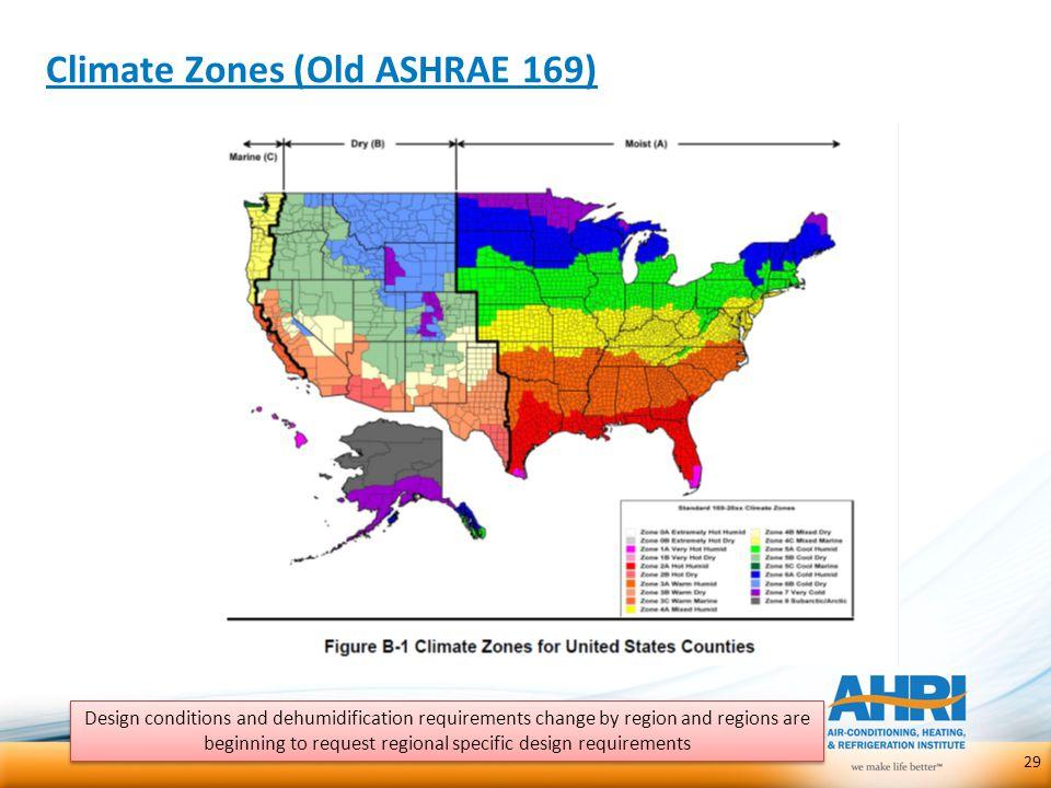 Climate Zones (Old ASHRAE 169)