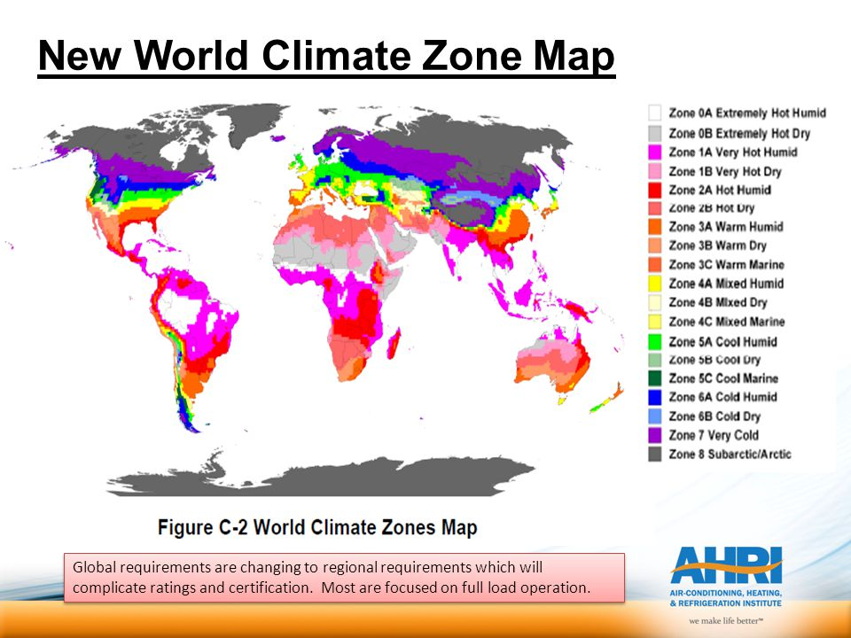 New World Climate Zone Map