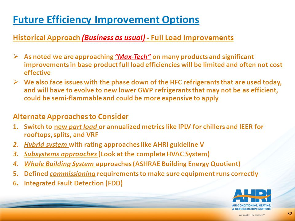 Future Efficiency Improvement Options