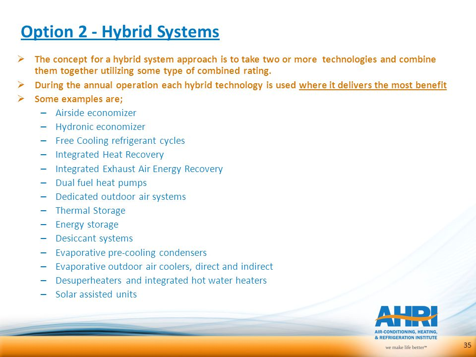 Option 2 - Hybrid Systems