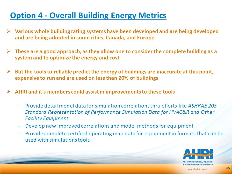 Option 4 - Overall Building Energy Metrics