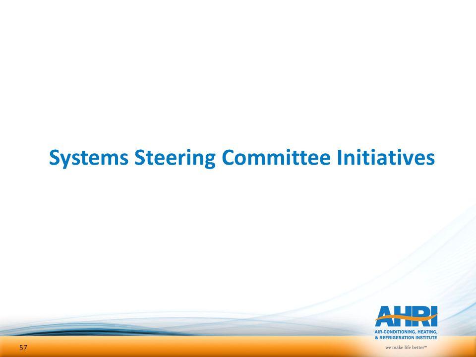 Systems Steering Committee Initiatives