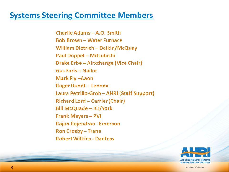 Systems Steering Committee Members