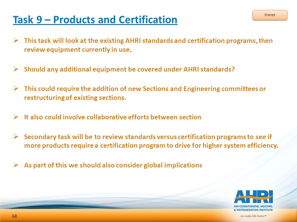 Task 9 – Products and Certification