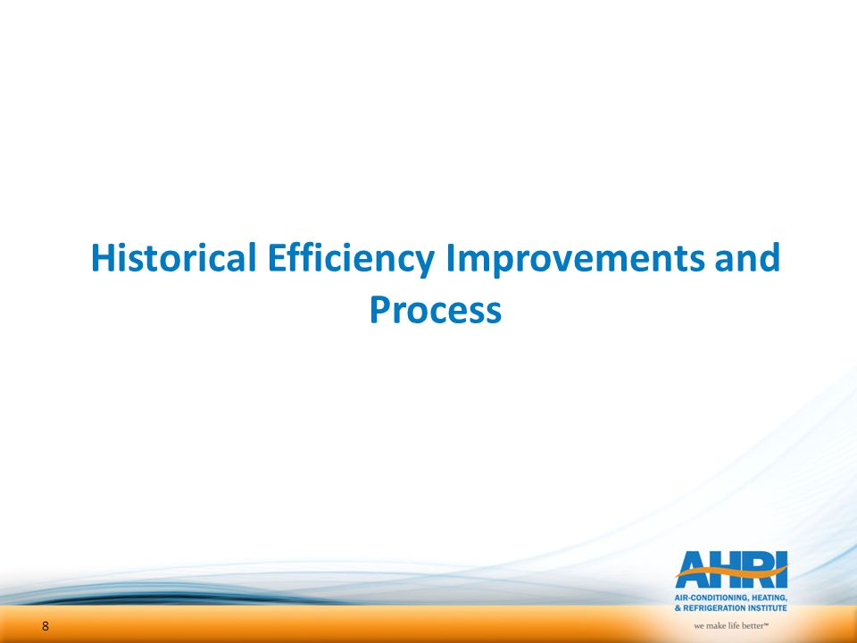 Historical Efficiency Improvements and Process