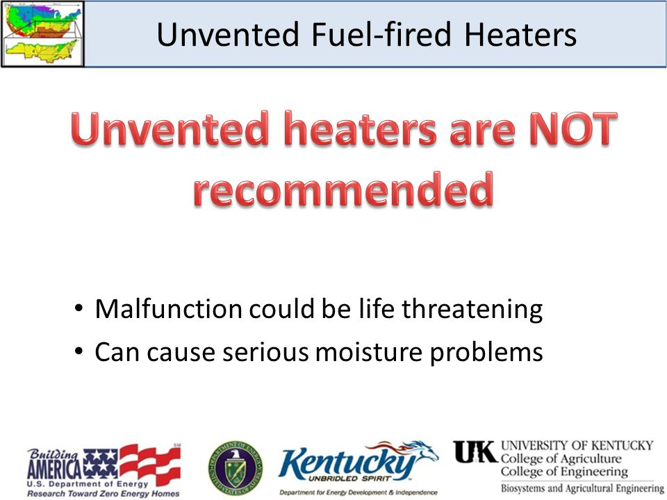 Unvented Fuel-fired Heaters