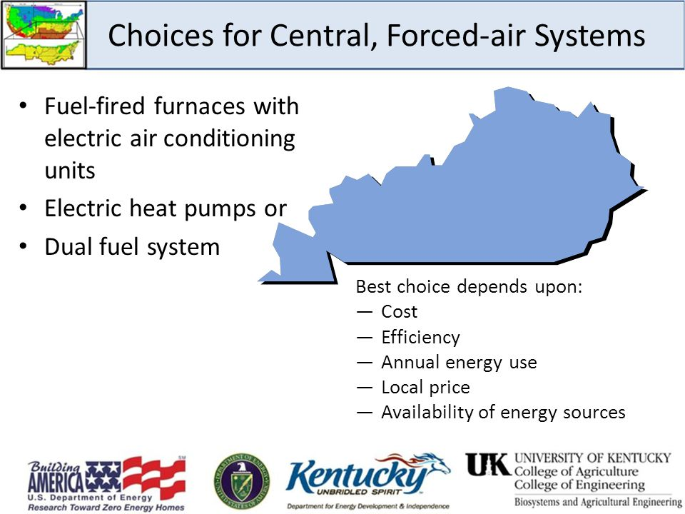 Choices for Central, Forced-air Systems
