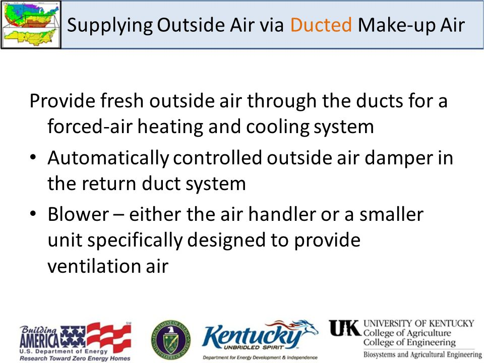 Supplying Outside Air via Ducted Make-up Air