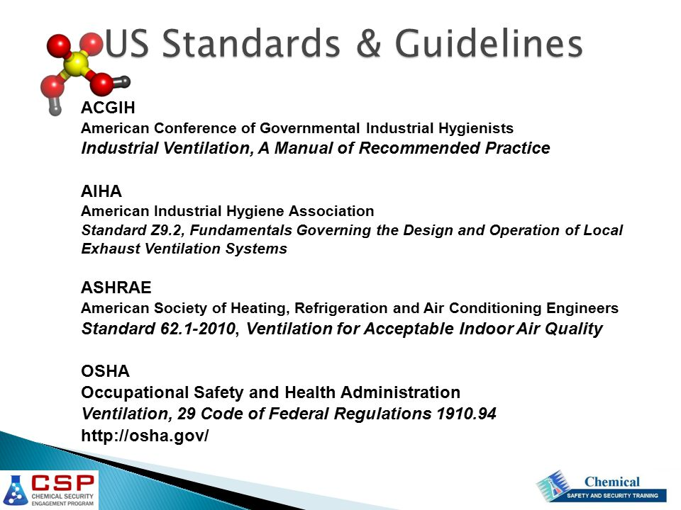 US Standards & Guidelines