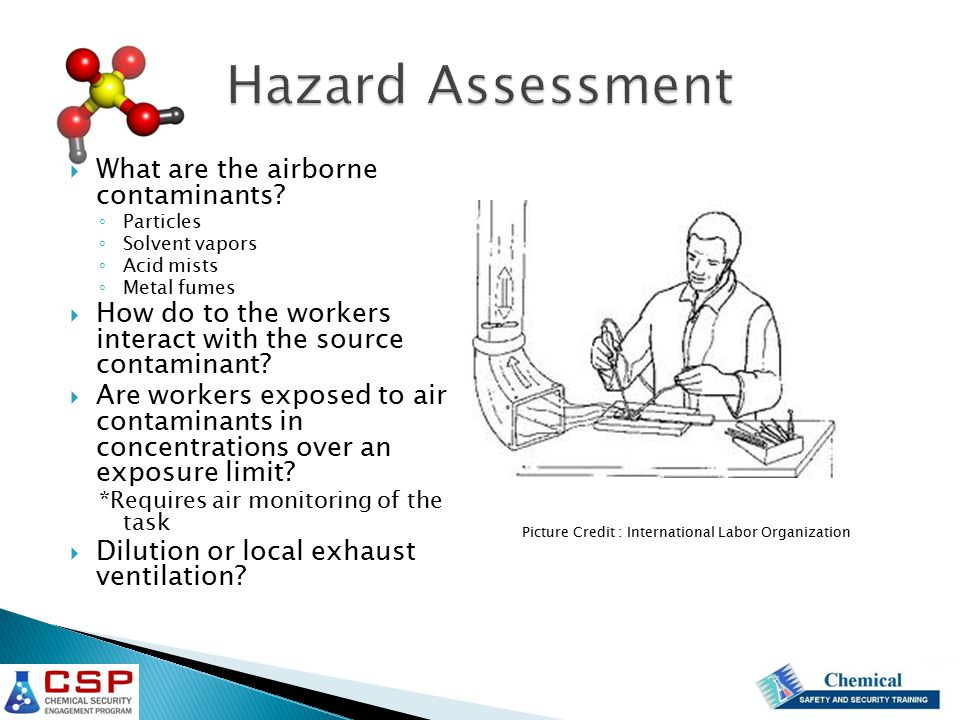 Hazard Assessment What are the airborne contaminants