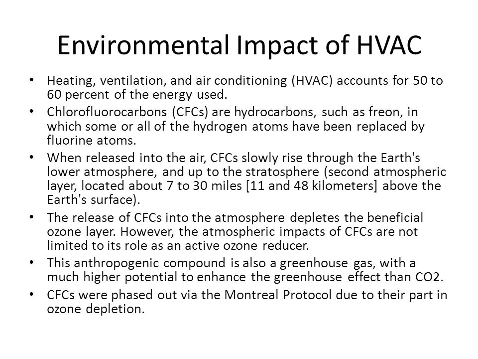 Environmental Impact of HVAC