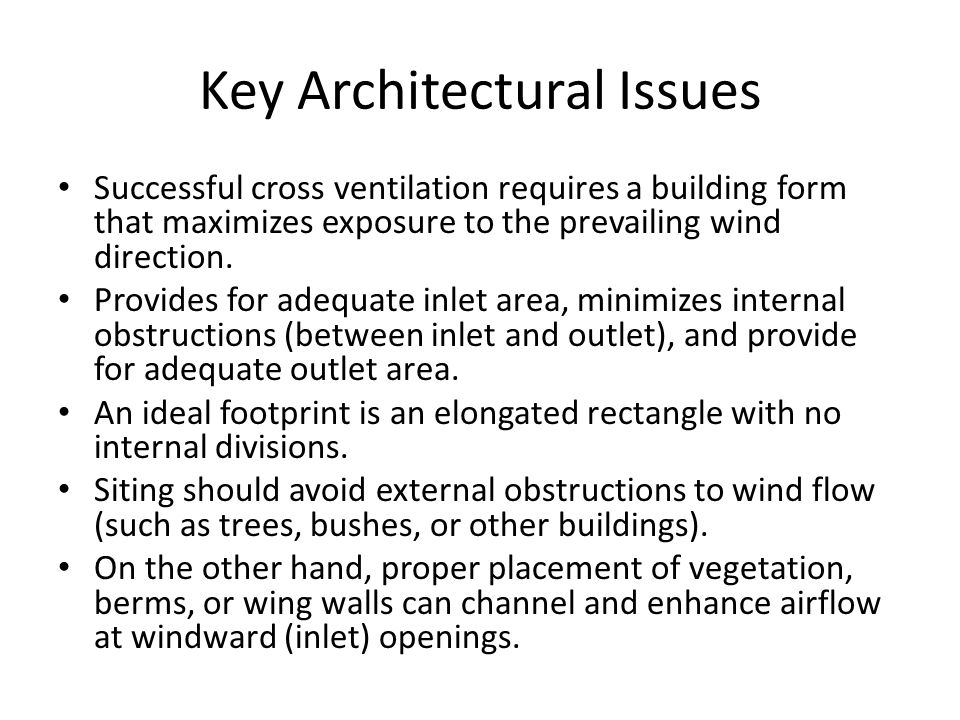 Key Architectural Issues