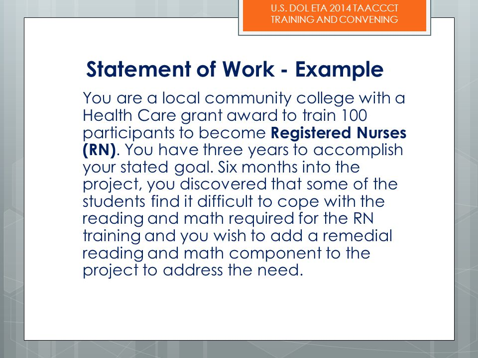 Statement of Work - Example