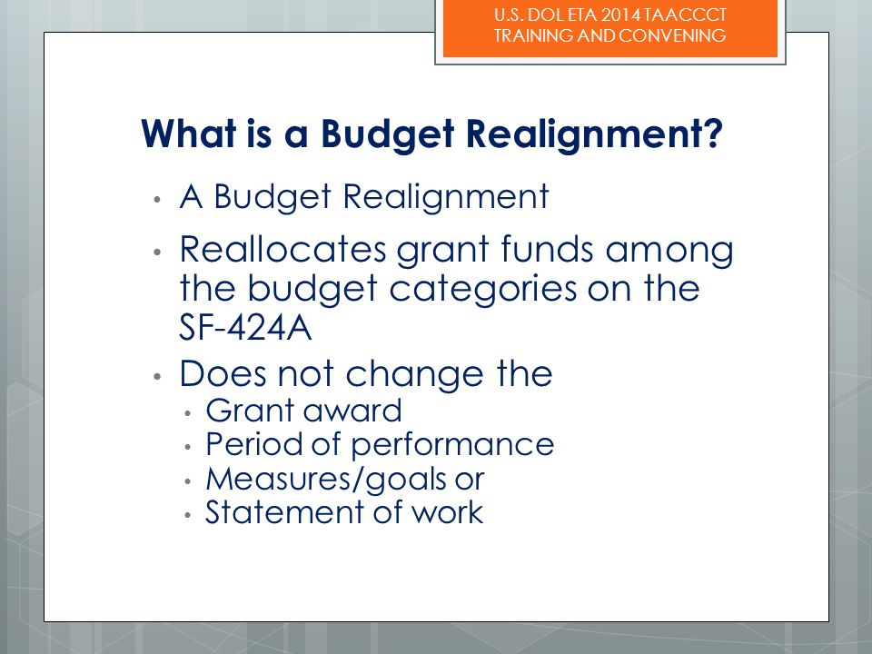 What is a Budget Realignment