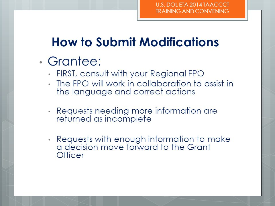 How to Submit Modifications