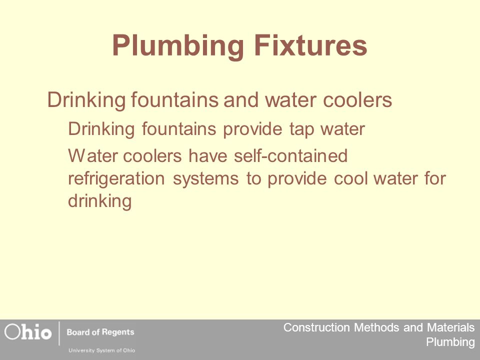 Plumbing Fixtures Drinking fountains and water coolers