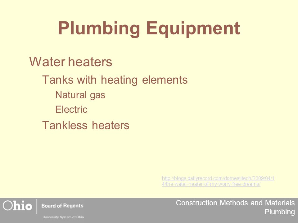 Plumbing Equipment Water heaters Tanks with heating elements