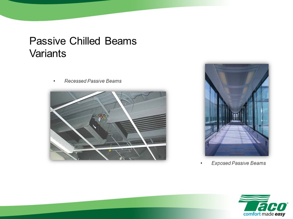 Passive Chilled Beams Variants