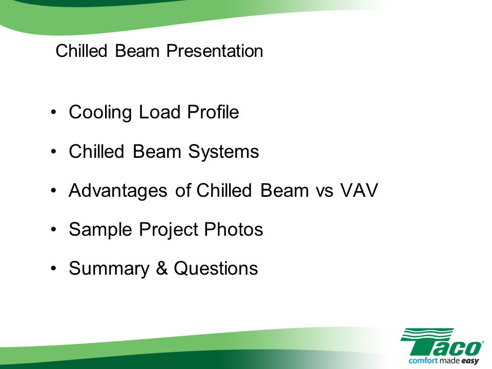 Advantages of Chilled Beam vs VAV Sample Project Photos
