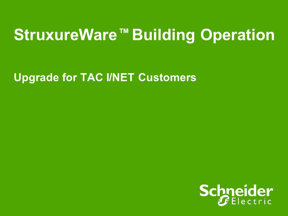 StruxureWare Building Operation