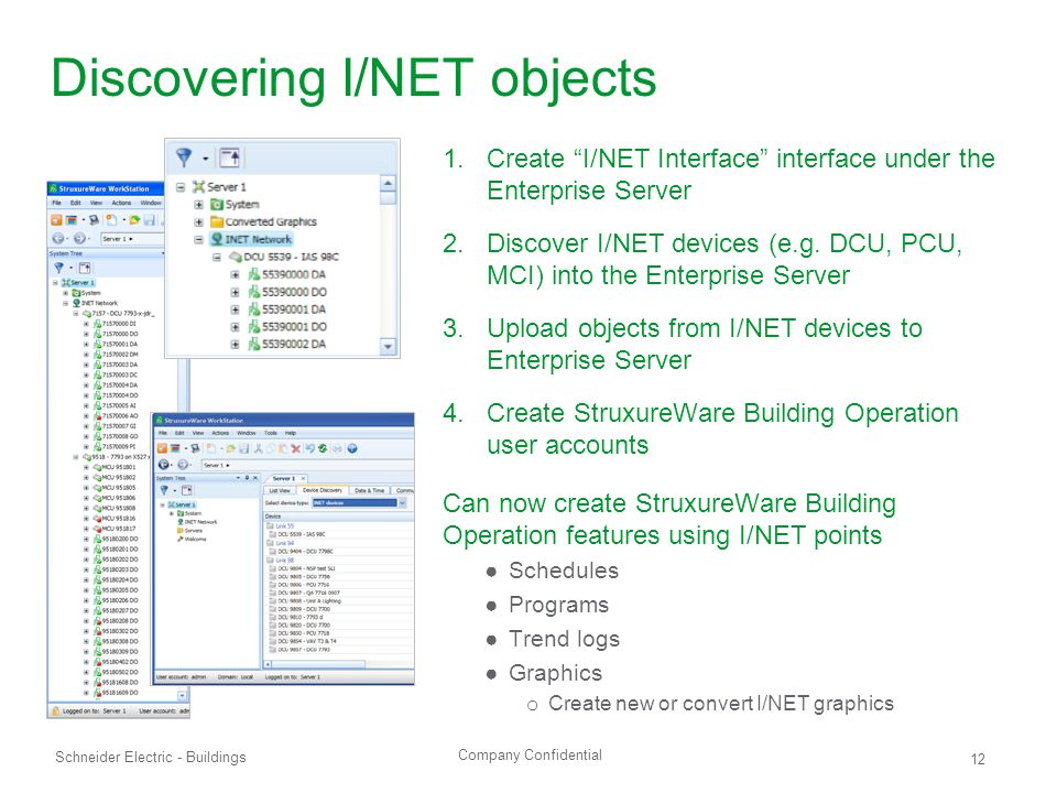 Discovering I/NET objects