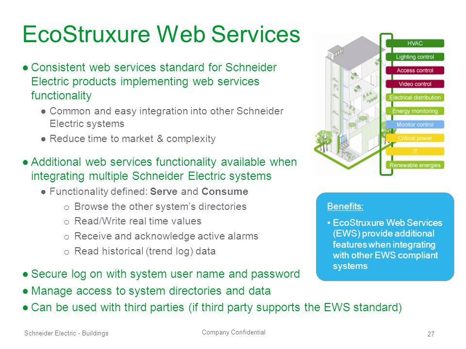 EcoStruxure Web Services