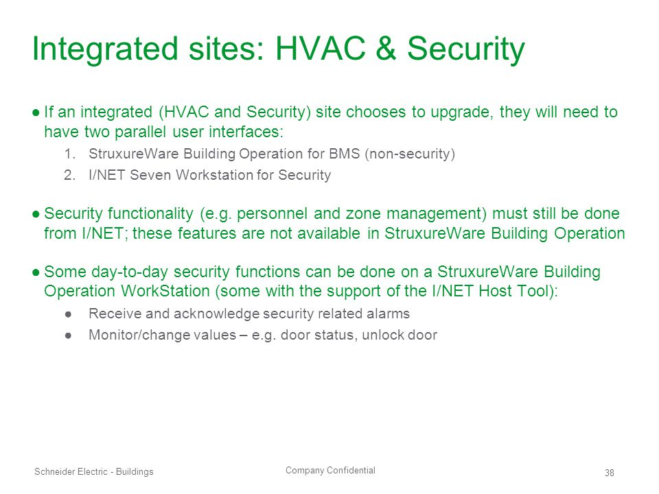 Integrated sites: HVAC & Security